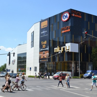 Static solution of the second stage of the Mlyny shopping mall in Nitra
