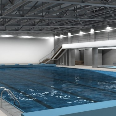 Reconstruction of an indoor swimming pool in the FIS hotel at Štrbské Pleso